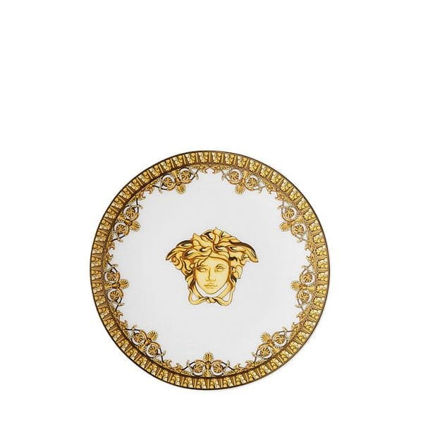 Versace I love Baroque white round porcelain dish