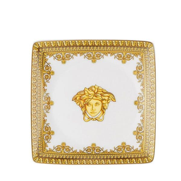Versace I love Baroque white 12 cm square porcelain dish