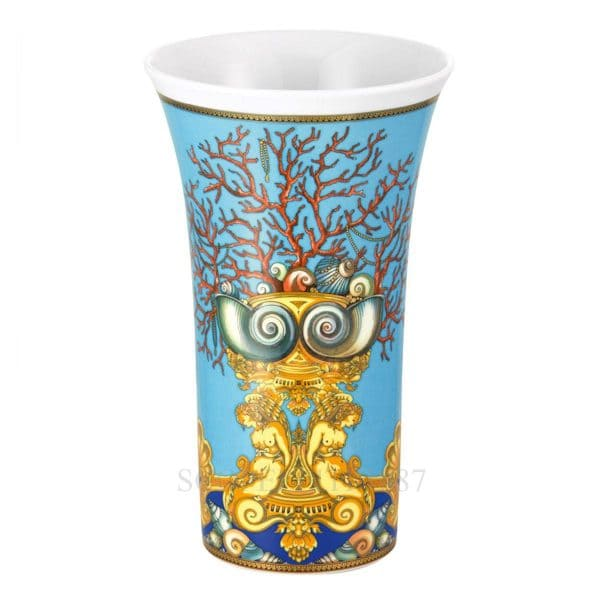 "Versace's flamboyant ""Tresors de la Mer"" 34 cm Vase  depicts a voyage into the depths of the Mediterranean sea so dear to Gianni Versace."