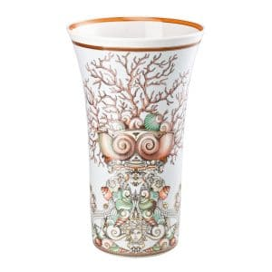 "Versace's sumptuous ""Les Étoiles de la Mer""  34 cm Vase  depicts a voyage, rich in symbols, into the  depths of the Mediterranean sea so dear to Gianni Versace."