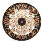 Piatto segnaposto in porcellana Barocco Versace Rosenthal