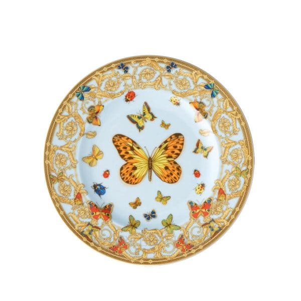 "Versace's delicate ""Le Jardin de Versace""  18 cm Side Dish will enchant your guests with a summer symphony of blossoms and insects."