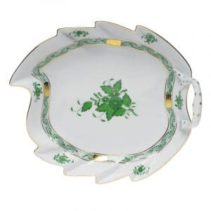 Leaf dish green Chinese Bouquet by Herend