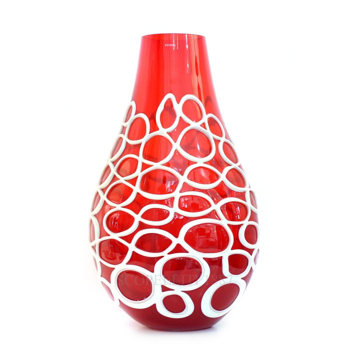 vaso rosso vaso kyklos rosso venini scopelliti 1887