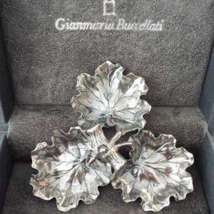 Centrotavola Geranio 53 cm in argento 925, Buccellati