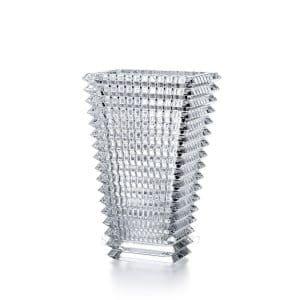 Vaso rettangolare Eye 20 cm in cristallo Baccarat