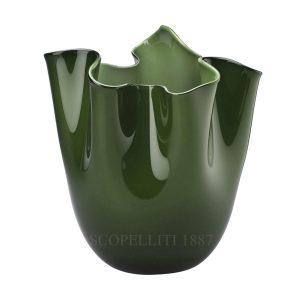 Fazzoletto opalino verde mela Venini