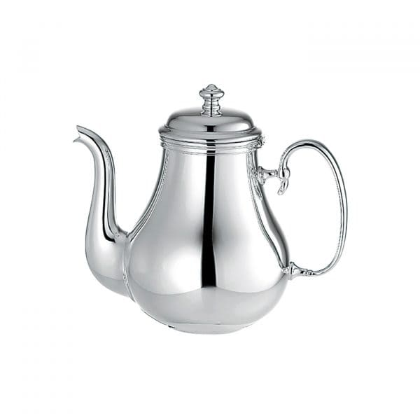 Albi highly polished Silver Plated Teapot  with its vase-shaped vessel, elegant graceful spout and delightfully high swung handle will have a dazzling effect on any table setting. The pot is perfectly insulated. This means that while the tea  inside remains hot, the handle never gets too warm.