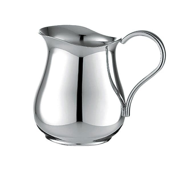 Albi highly polished Silver Plated Creamer with its vase-shaped vessel, elegant spout and delightfully high swung handle will have a dazzling effect on any table setting. The Albi creamer adds refinement and elegance to any beverage service. Pairs with great refinement with the Sugar Bowl, Coffeepot and Teapot.