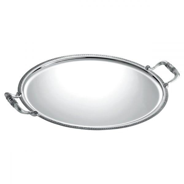 Vassoio ovale con manici Malmaison di Christofle