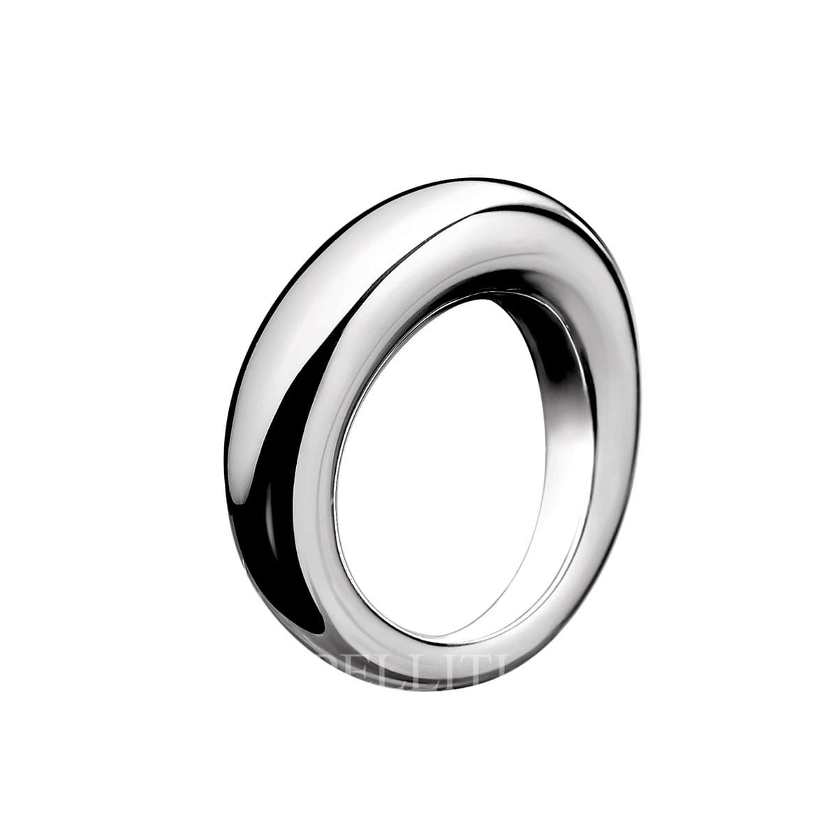 "2e3b45abe976 Idole Ring features a tantalizing single bold circle which delicately wraps  round the finger. A. Christofle ""Idole"" Sterling Silver Bangle Ring"