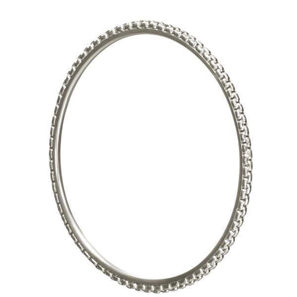 Madison Style sparkling Sterling Silver Bangle Bracelet with its rigid forms gives a delicate elegance to the wrist. Mix, match and accumulate the sterling silver Christofle Bangles for a carefree and a bolder look. Pairs well with the Madison Style necklaces, rings and earrings.