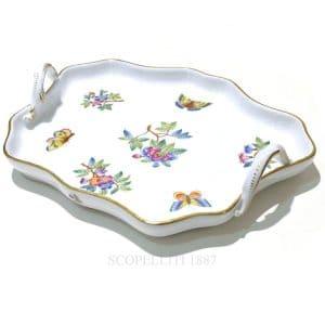 Vassoio con manici in porcellana di Herend