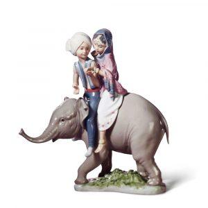 Lladrò - Statua Bimbi indiani