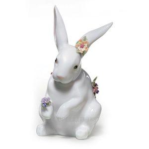 Lladrò - Statua Coniglio con fiori