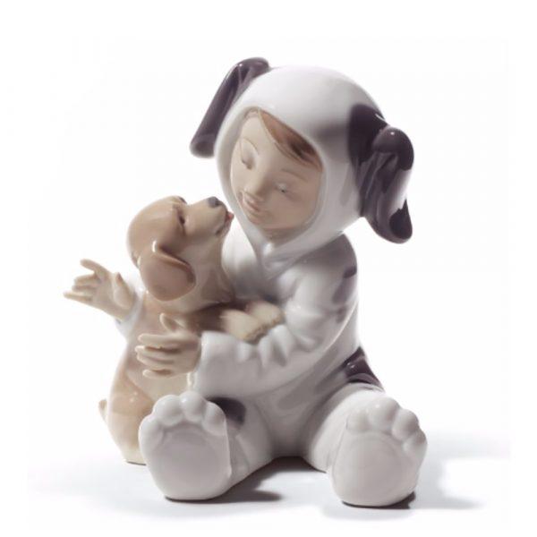 Lladrò - Statua Vestito da cagnolino