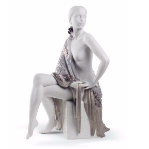 Lladrò - Statua Nudo con scialle Re-Deco