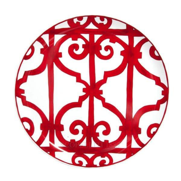 the red dishe of porcelain of Hermes balcon du Guadalquivir
