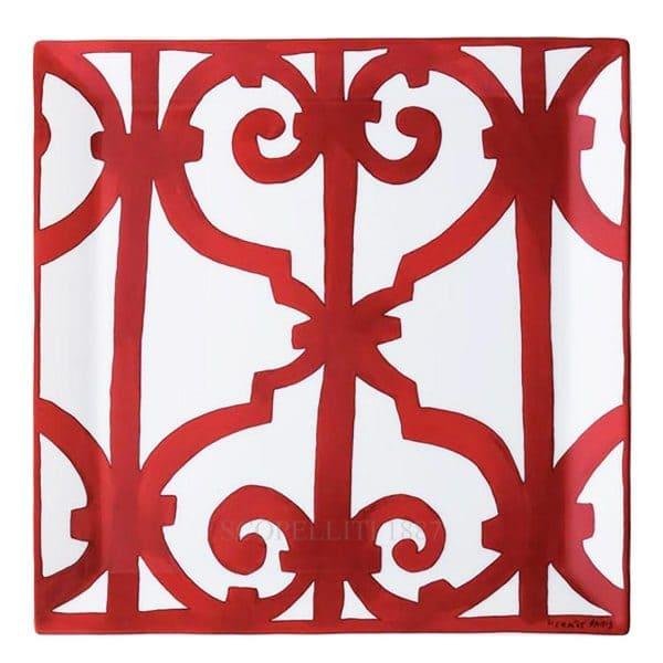 The plate of Hermes porcelain Balcon Guadalquivir