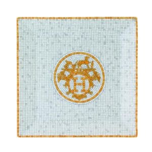 the plate of porcelain Hermes mosaique