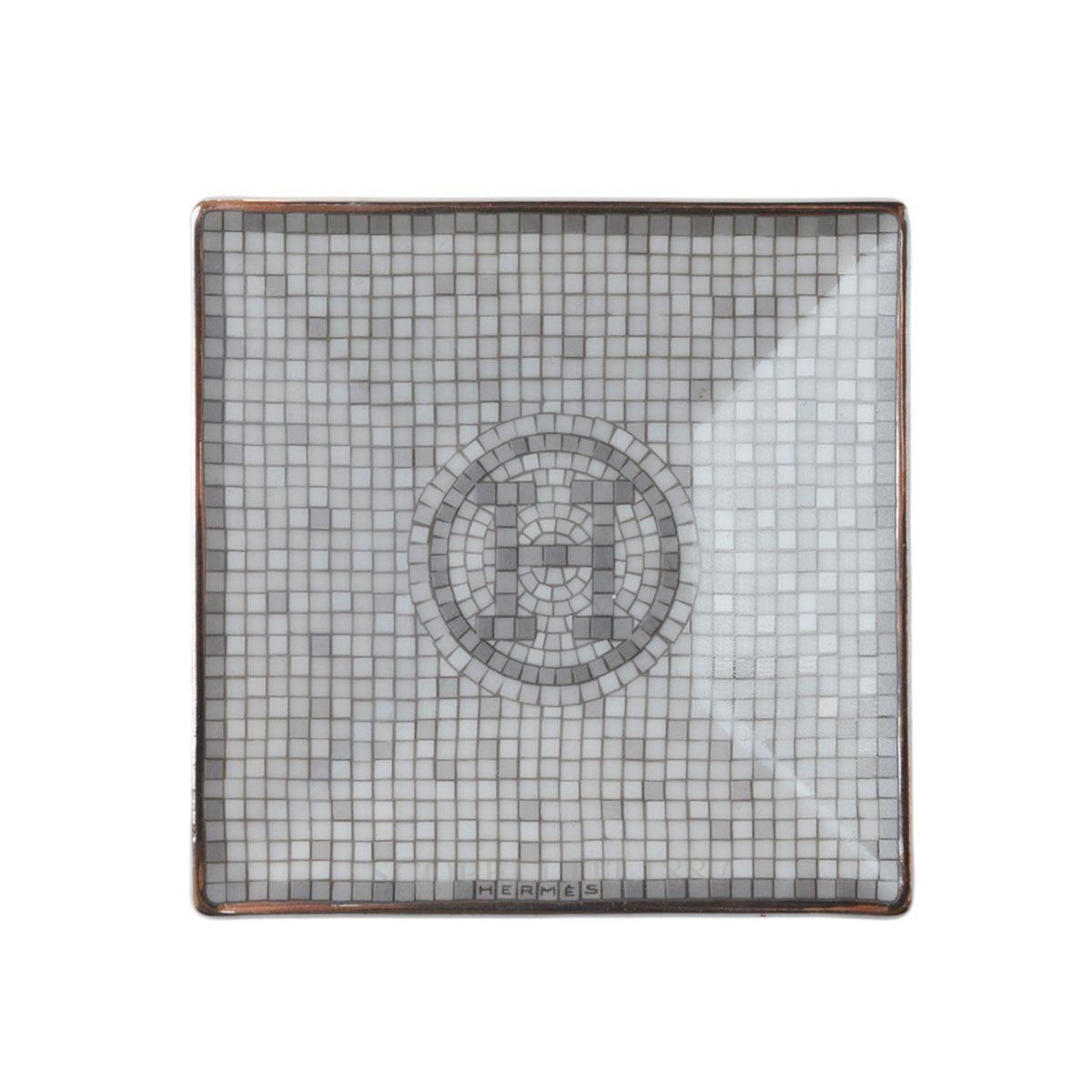 Bomboniera 7x7 cm Mosaïque au 24 platinum Hermès