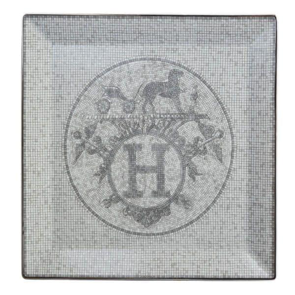 Empty pocket of Hermes porcelain mosaique
