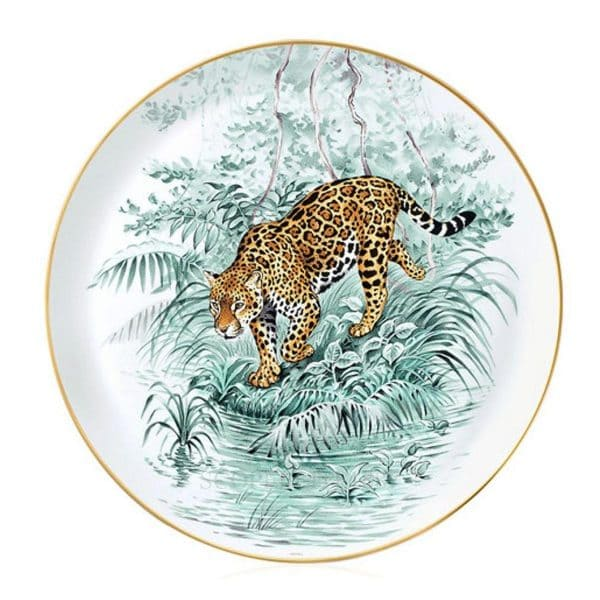 the cake plate of Hermes porcelain Equateur
