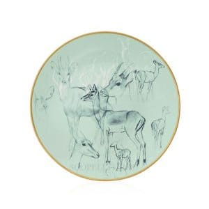 The plates of Hermes porcelain