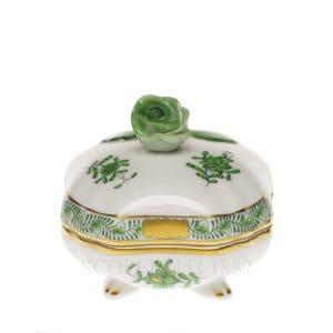 raffinata bomboniera in porcellana decorata