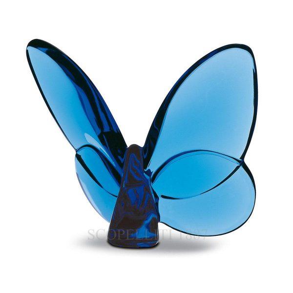 """Portafortuna """"Papillon"""" di Baccarat – colore blu"""