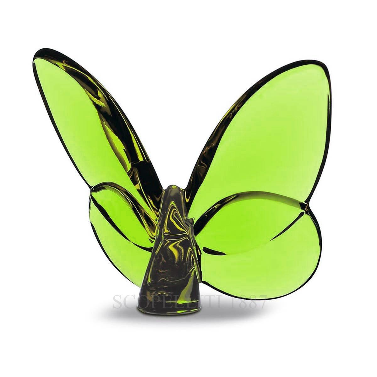 Portafortuna papillon di baccarat colore verde - Portafortuna casa nuova ...