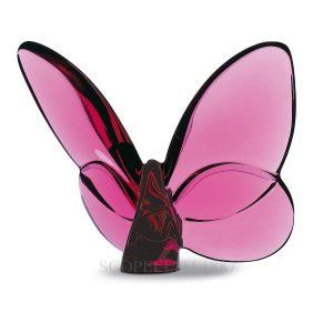 """Portafortuna """"Papillon"""" di Baccarat – colore peonia"""