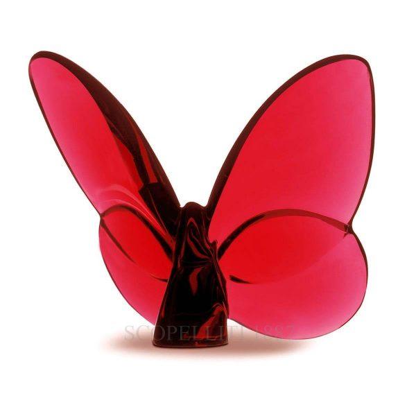 """Portafortuna """"Papillon"""" di Baccarat – colore rosso"""