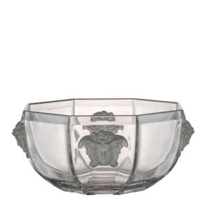 "Versace's elegant ""Medusa Lumière""  Bowl bestows class to home decor."