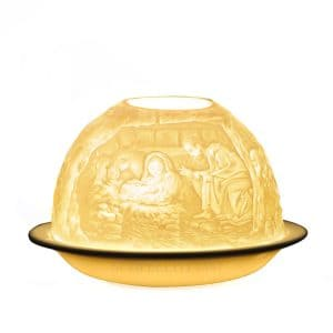 Bernardaud Votivelight in bisque porcelain with Nativity