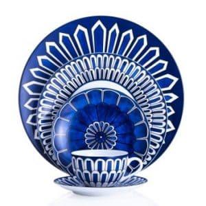 Hermes porcellana servizio tavola Bleus d'ailleurs