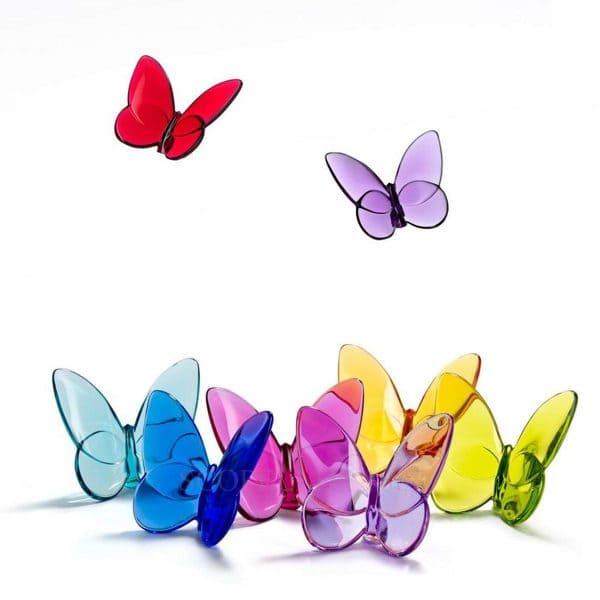 Portafortuna papillon di baccarat colore giallo - Portafortuna casa nuova ...