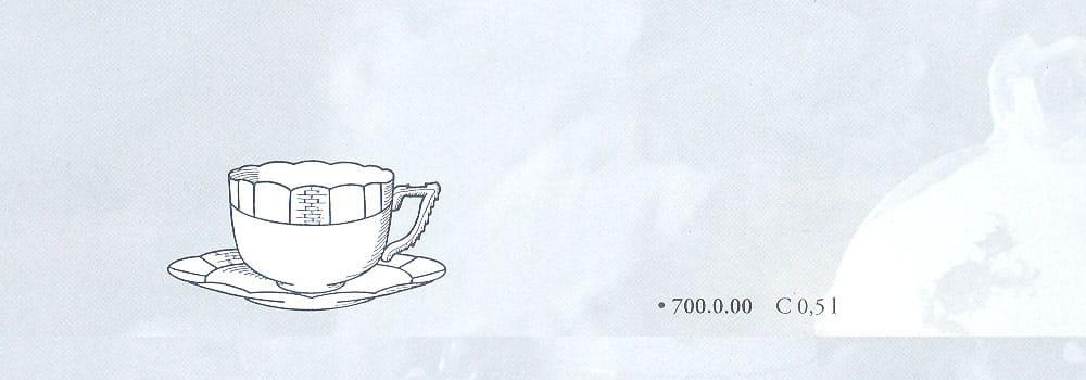 tazza caffe osier herend porcellana pregiata