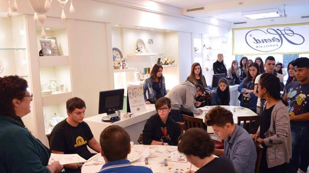 Herend decorazione porcellane a Reggio Calabria liceo artistico