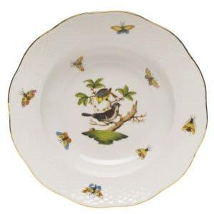 piatto fondo herend rothschild uccelli porcellana ungherese decorata a mano