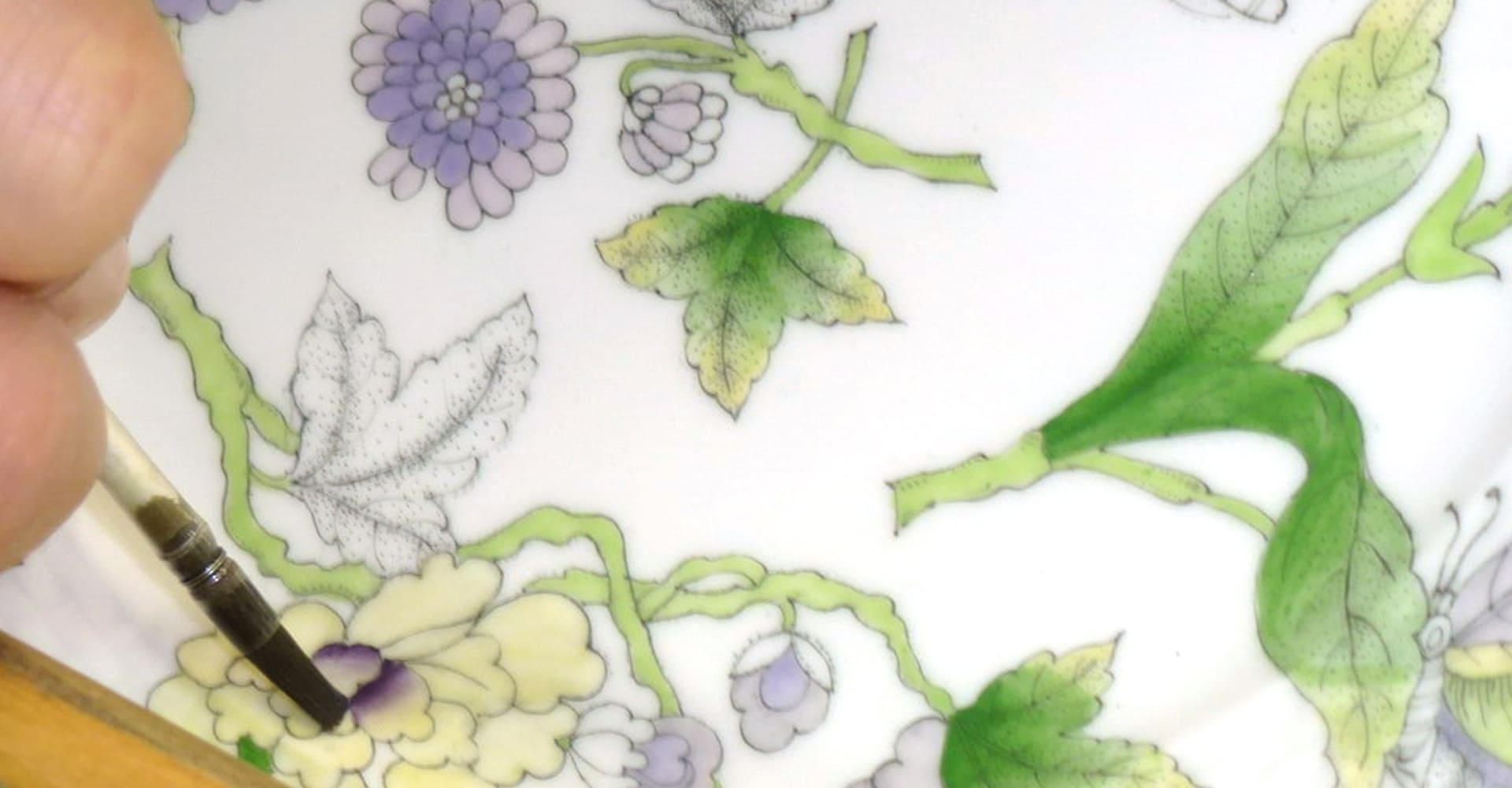 dettaglio di un decoro della porcellana di Herend