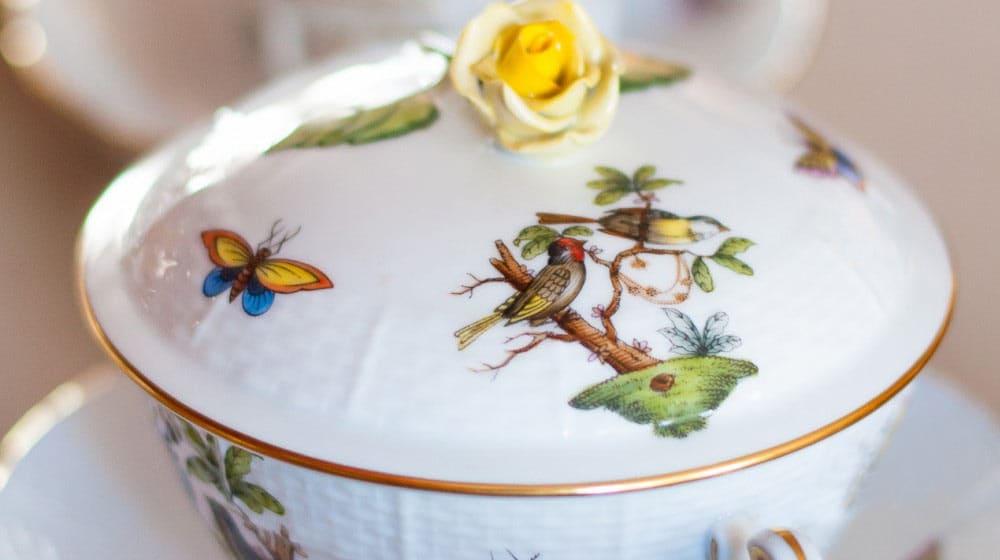 herend rothschild porcellana ungherese decorata a mano