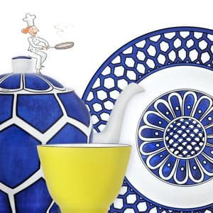 Porcellana di Hermes blue