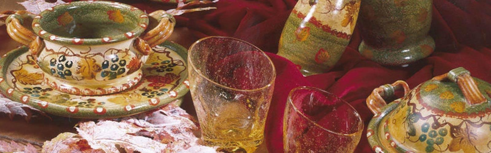 Modigliani ceramica Terre di Chianti decorata a mano