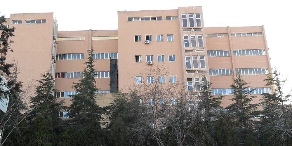 Esterno dell'ospedale