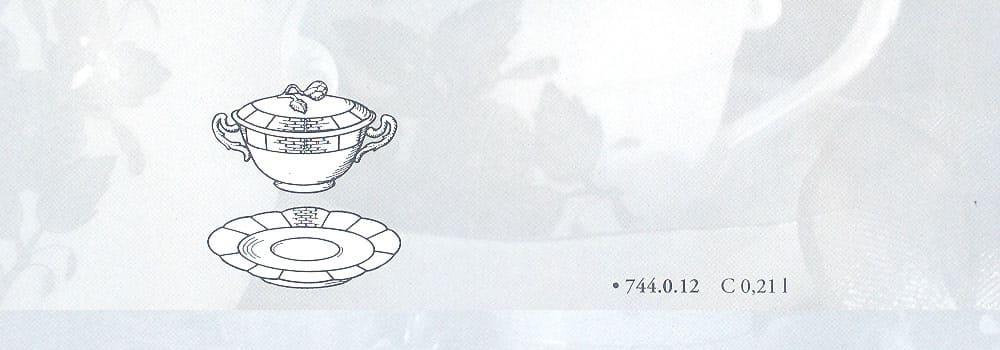 tazza e coperchio osier herend porcellana pregiata