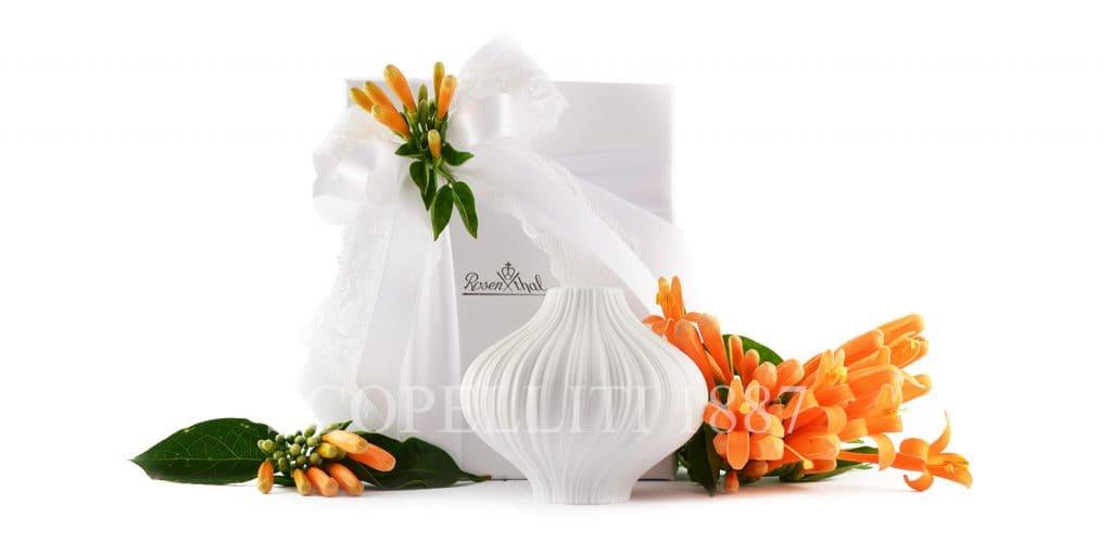 Vaso plisse per bomboniera matrimonio