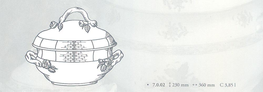 zuppiera herend porcellana pregiata
