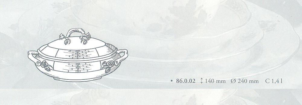 zuppiera osier herend porcellana pregiata