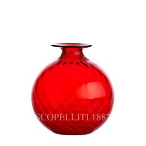 Vaso rosso Balloton di Venini Murano